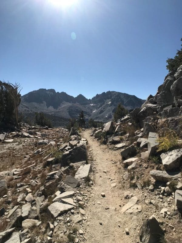 top of duck pass trail