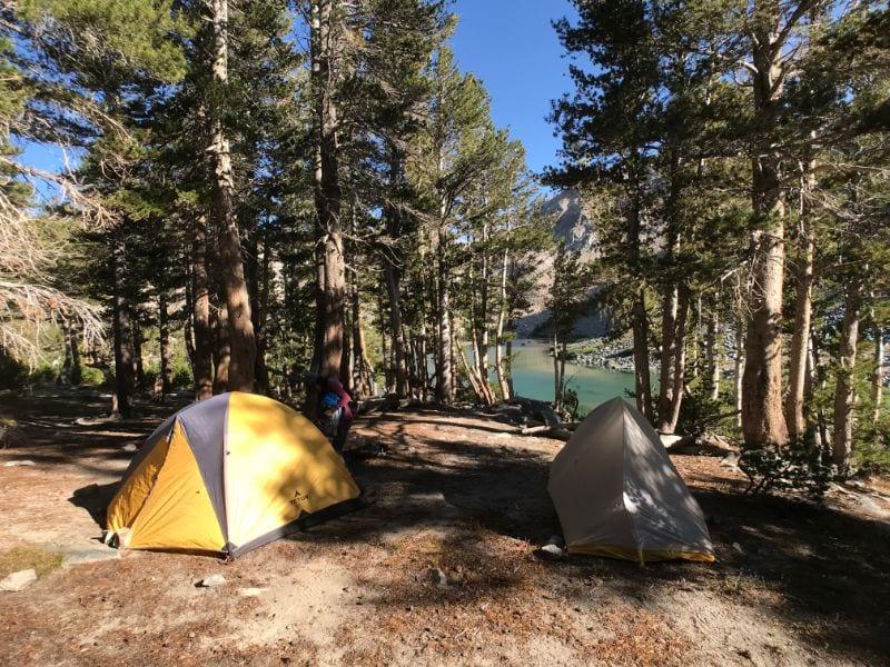 camping at barney lake