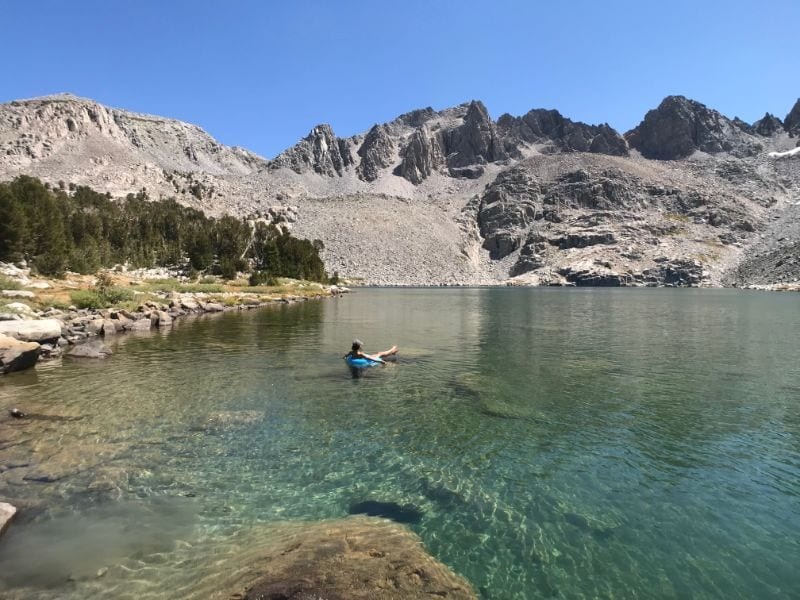 floating in pika lake