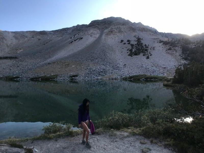 dusk at barney lake