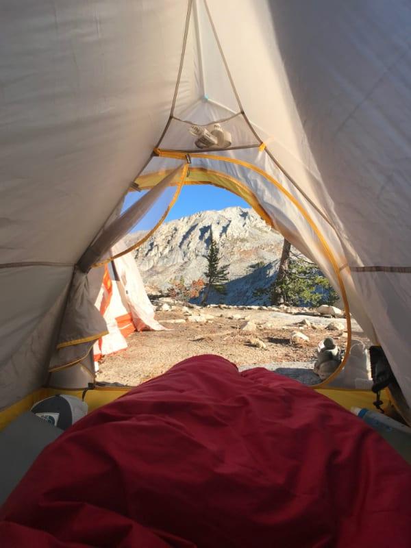 morming tent views