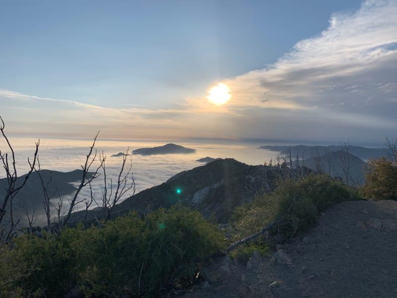 san gabriel peak sunset