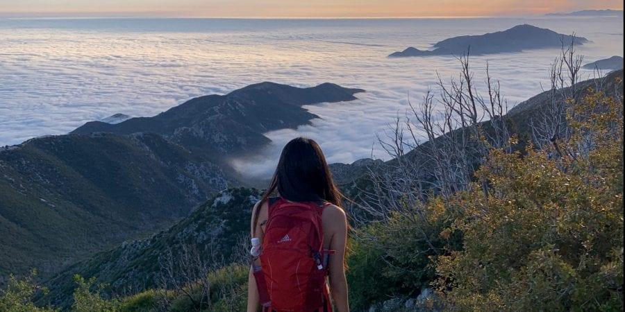 san gabriel peak, gregory nano daypack