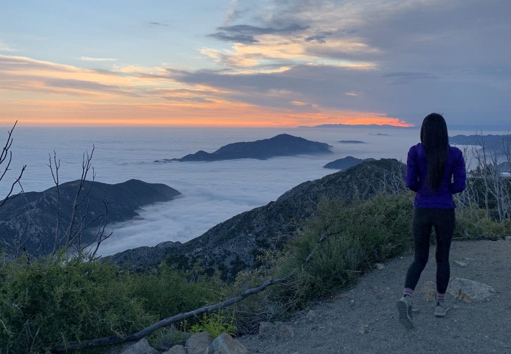 san gabriel peak national trails day sunset 2019