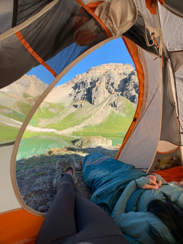 camp site views in colorado's backcountry