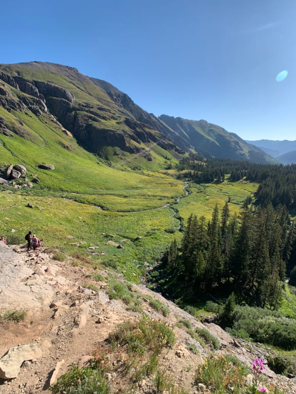 ice lake trail in colorado