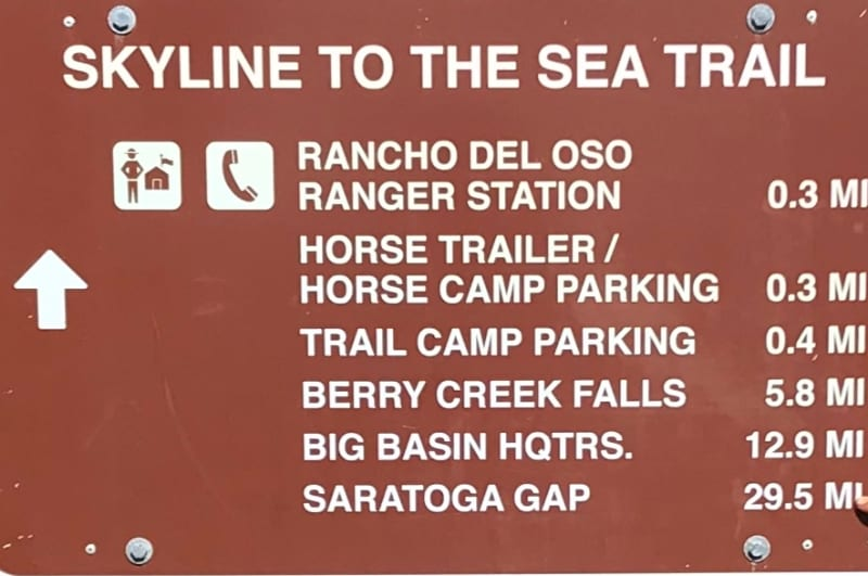 skyline to the sea trail sign