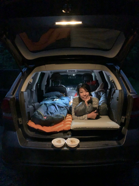 budget travel tip: sleep in car