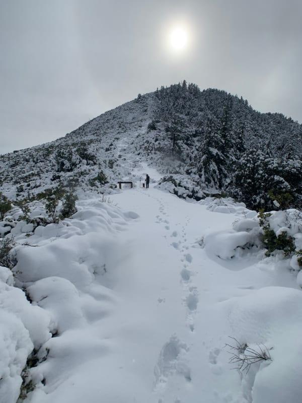 smith mountain in snow