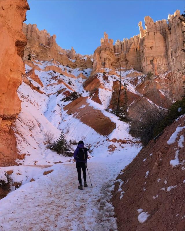 peekaboo trail bryce canyon winter