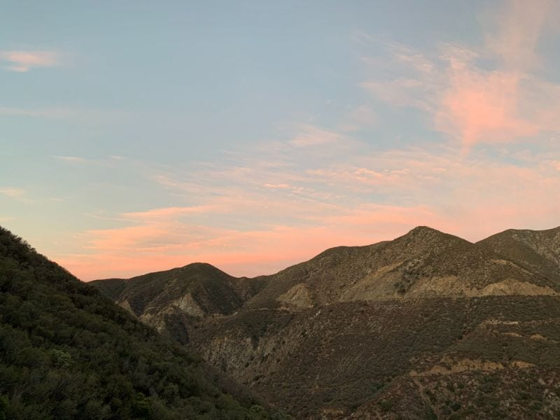 sunrise in san gabriel mountains