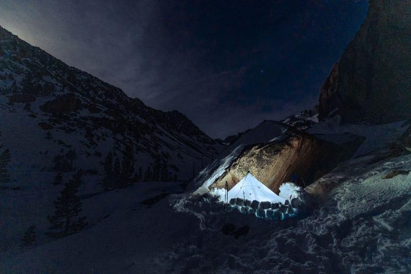 winter backcountry camping hyperlite mountaingear shelter