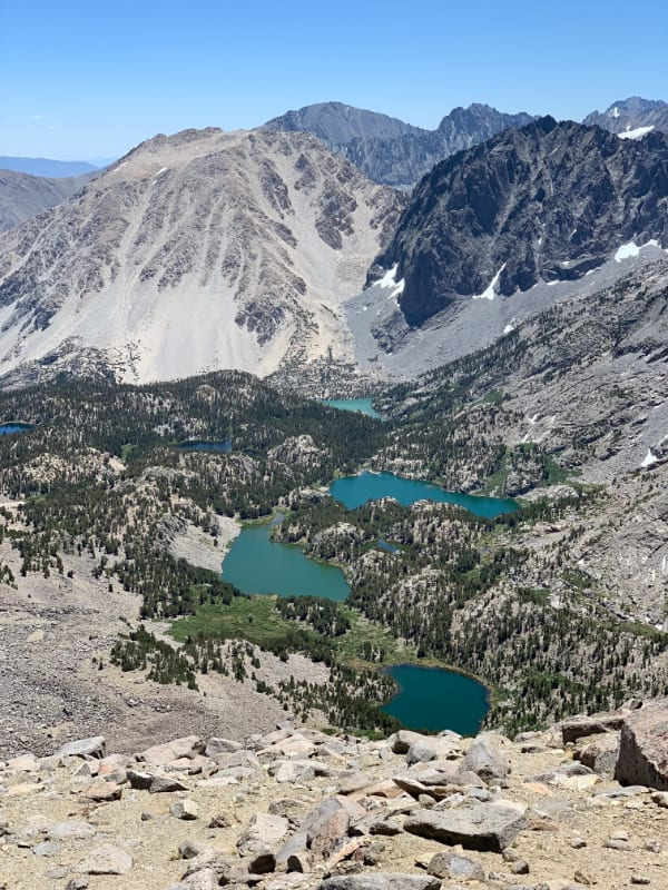 big pine lakes from cloudripper traverse
